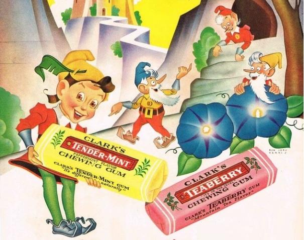 clark-chewing-gum-ad-1943-pixies