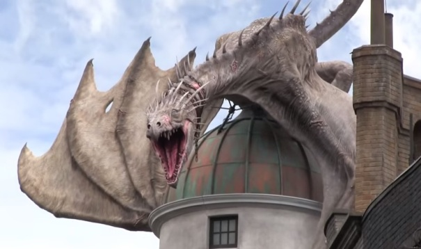 florida-orlando-harry-potter-world-gringotts-bank-dragon