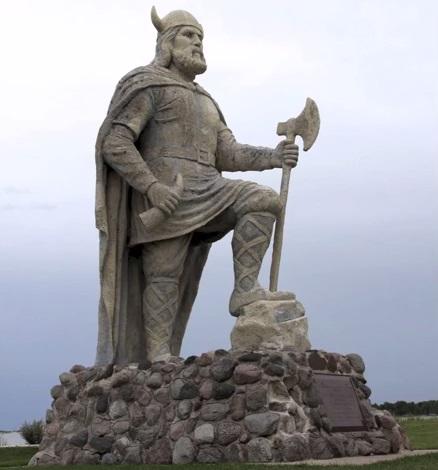 Viking Statue in Gimli, Manitoba, Canada