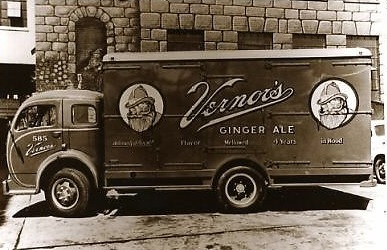 Vintage Vernor's Ginger Ale delivery truck in Michigan