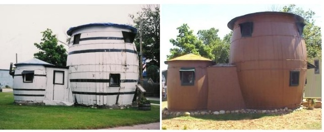 The Pickle Barrel House before and after restoration