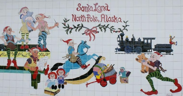 alaska north pole santa claus wall elves - Santa And The North Pole
