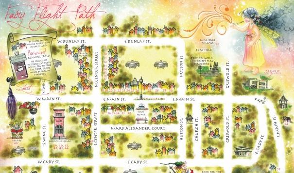 michigan-northville-fairy-door-map