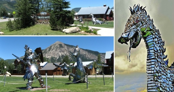 colorad-crested-butte-dragon-knight-sculpture-park-entrance