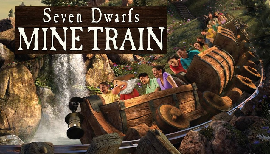 dwarfs mine train seven disney florida walt disneyland kingdom magic orlando roller ride coaster fl enchanted dwarf lake enchantedamerica
