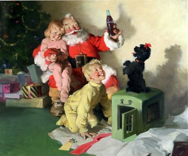 georgia-atlanta-coca-cola-santa-claus-kids-dog