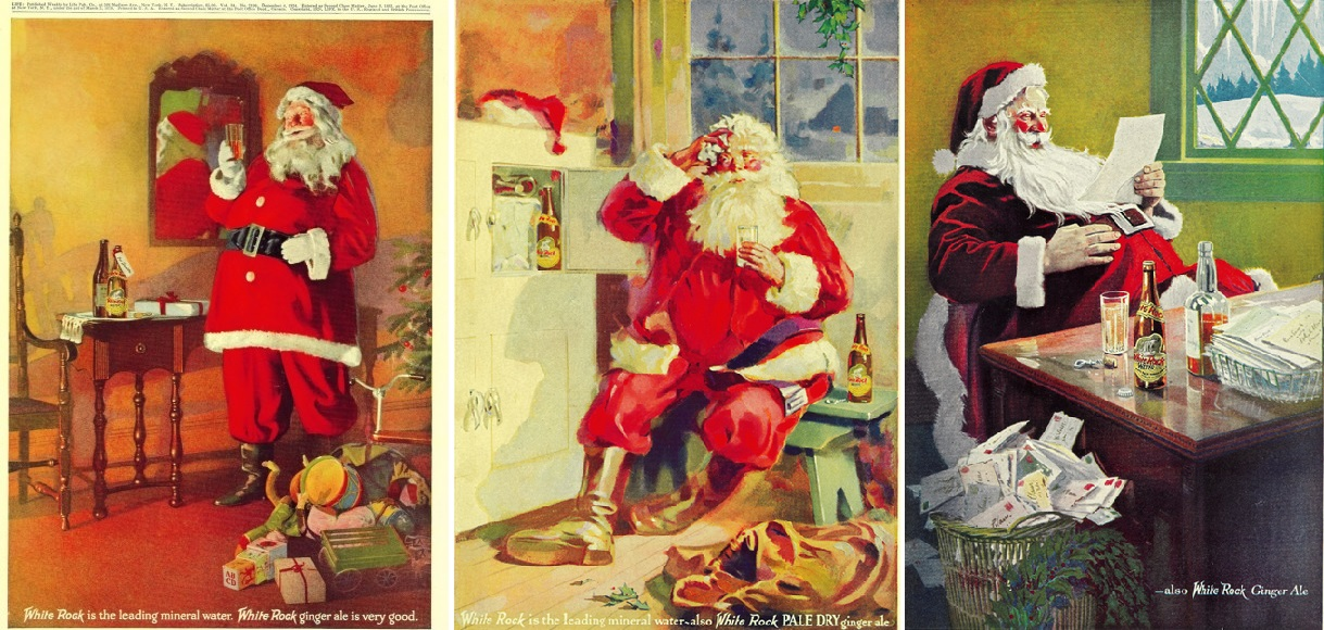 Reklama wody mineralnej i piwa imbirowego firmy White Rock Beverage, 1915-1923