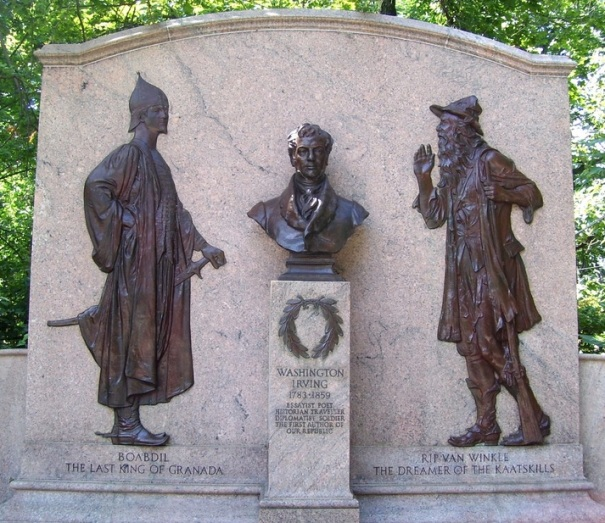new-york-irvington-rip-van-winkle-statue-irving-bust