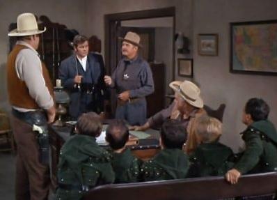 Virginia City Sheriff interrogates the little men and Professor ...