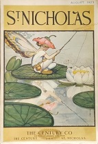 st-nicholas-magazine-cover-august-1923-fairy-fishing-on-lily-pad
